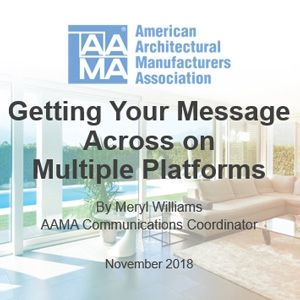 Make a Plan for Getting Your Message Across on Multiple Platforms with November 6 Webinar