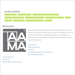 AAMA Website, Resources Page Pulls Must-Haves Together