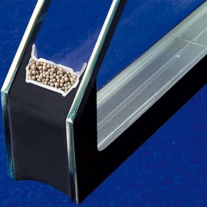 example of an IGU spacer containing desiccant