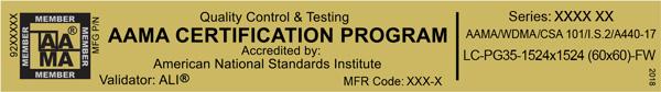 AAMA Certification Program Gold Label | NAFS 2017