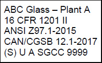 certification mark for laminated glass example