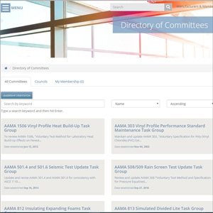 AAMA Website, Directory of Committees Make Group Involvement and Information Easy